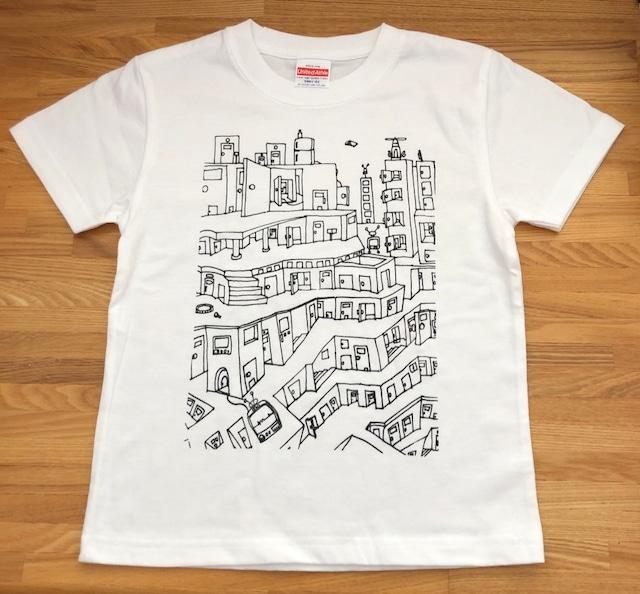 おうちで作ろう!お絵かきTシャツ キット *puzzle city*110cm〜140cm対応 送料無料