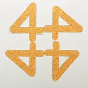 切り文字 A&Cペーパー パルプロック 粘着付 数字「4」