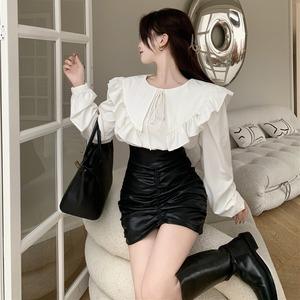 カラーシャツ&タイトミニSET V00966