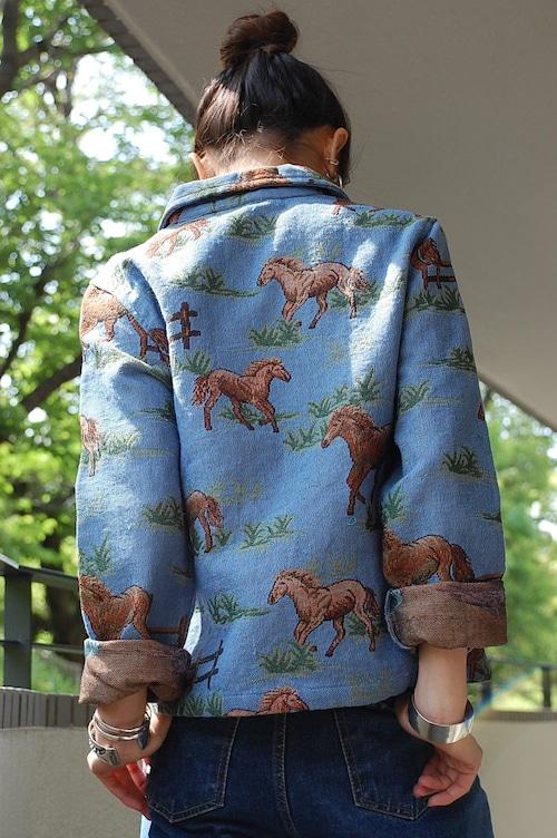 horse embroidery jacket
