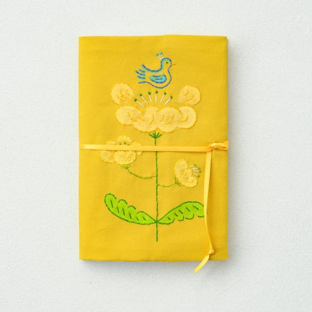 [B(黄色地)]みずうちさとみさんの「天然生活手帖用オリジナル手帖カバー」布製【限定2個】