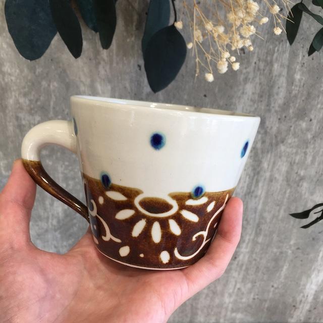 『高江洲陶磁器』 楕円皿(小)ストライプ 青