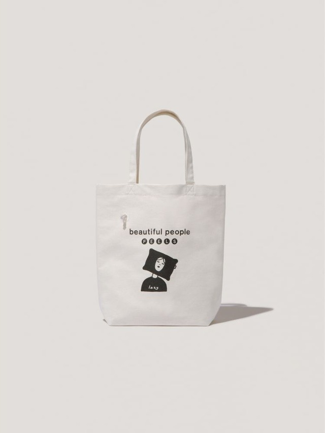 【beautiful people】Inflatable Tote Bag Pillow -white F030611920