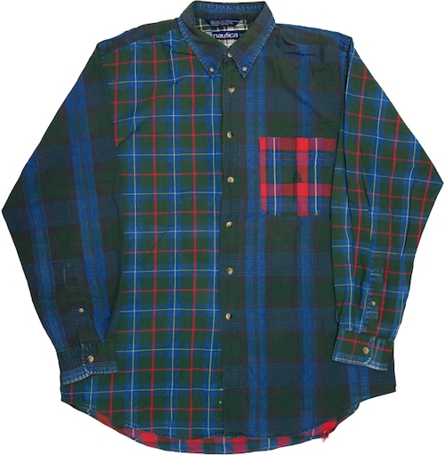 90年代 nautica クレイジーパターン ボタンダウンシャツ 【L】 | ノーティカ ヴィンテージ 古着