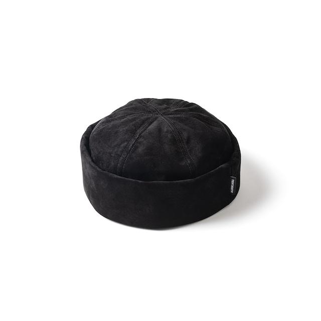 TIGHTBOOTH  SUEDE ROLL CAP BLACK