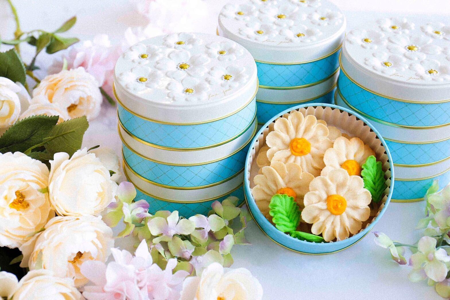 【マーガレット】お花のぼうろ<10缶セット>