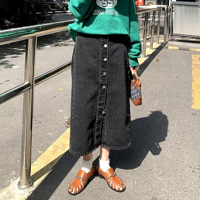 Middle denim skirt(ミドルデニムスカート)b-433