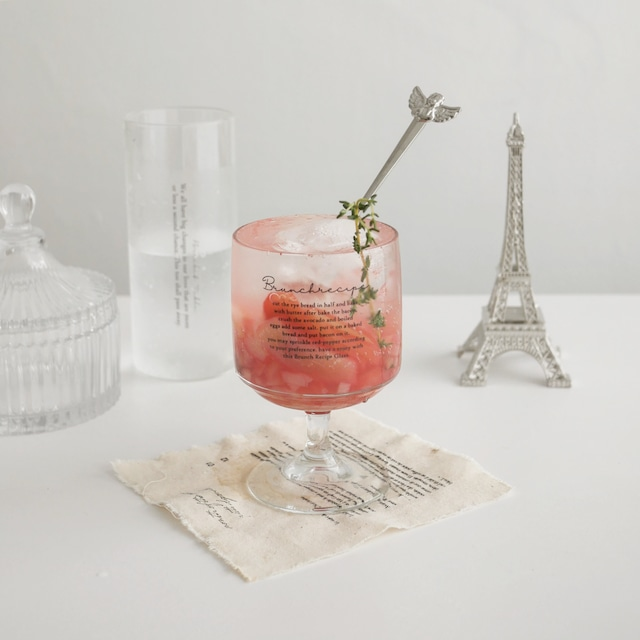 [Bracket Table] Brunch recipe ゴブレットグラス