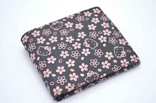 キティ印傳 札入(小銭入付) 桜柄