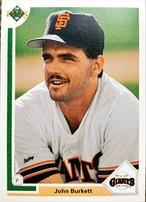MLBカード 91UPPERDECK John Burkett #577 GIANTS