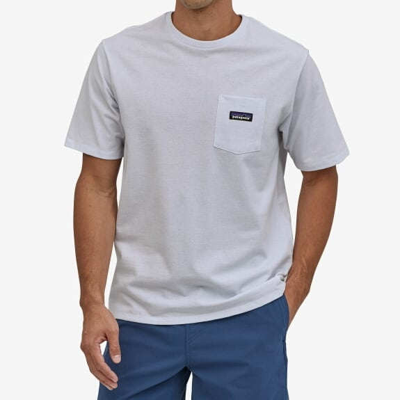 パタゴニア PATAGONIA Tシャツ 半袖 メンズ P-6ラベル  ポケット レスポンシビリティー 37406 White【正規取扱店】