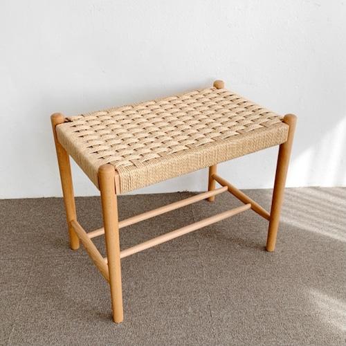 beech wood denish paper cord stool / ウッド 原木 ペーパーコード スツール チェア サイドテーブル 椅子 韓国 北欧 雑貨