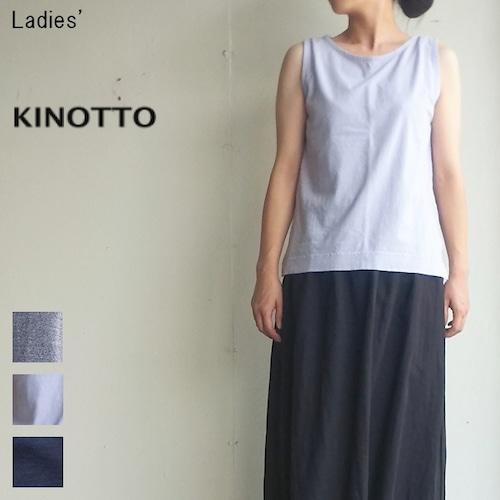 KINOTTO ノースリーブカットソー No Sleeve 251C-06 (GRAYSH BLUE)