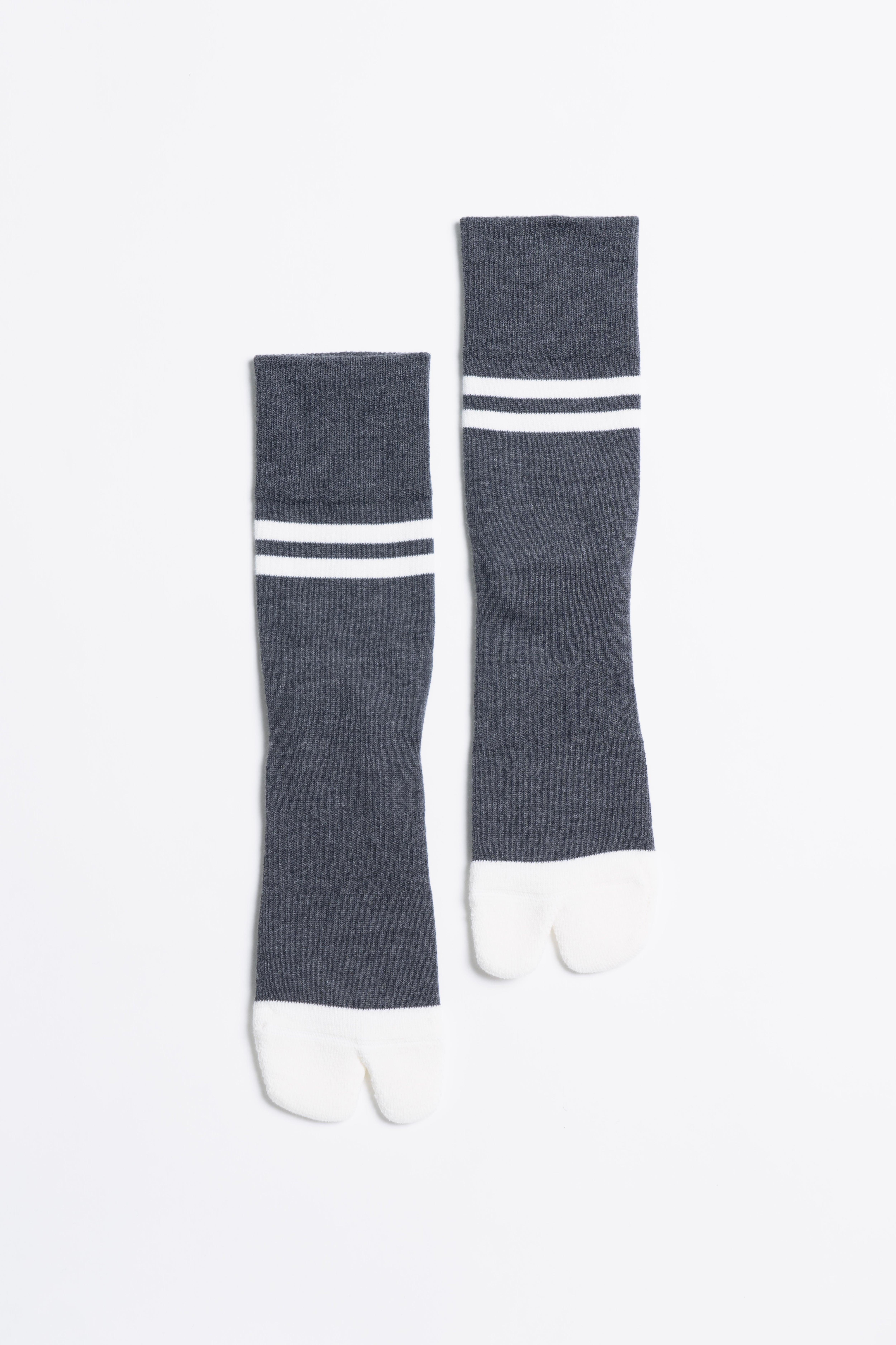 '90s Line Socks(Charcoal × White)