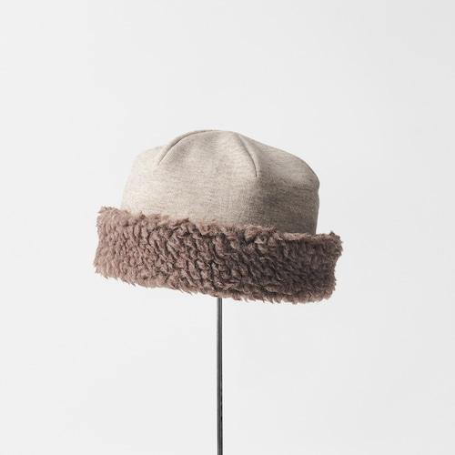 mature ha./hood cap organic cotton/yak × brown
