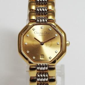 Christian Dior ディオール クオーツ ゴールド レディース 腕時計