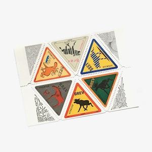切手(未使用)「ヘラジカ:ブロック - 6枚構成(1997)」