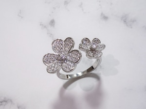 flower ring/gold,silver