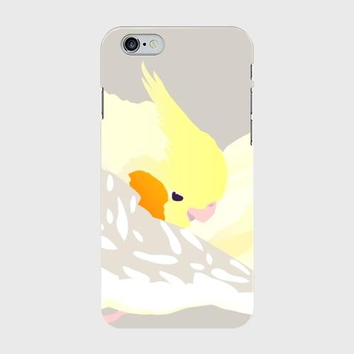iPhoneケース もふもふオカメインコ シナモンパールパイド【各機種対応】