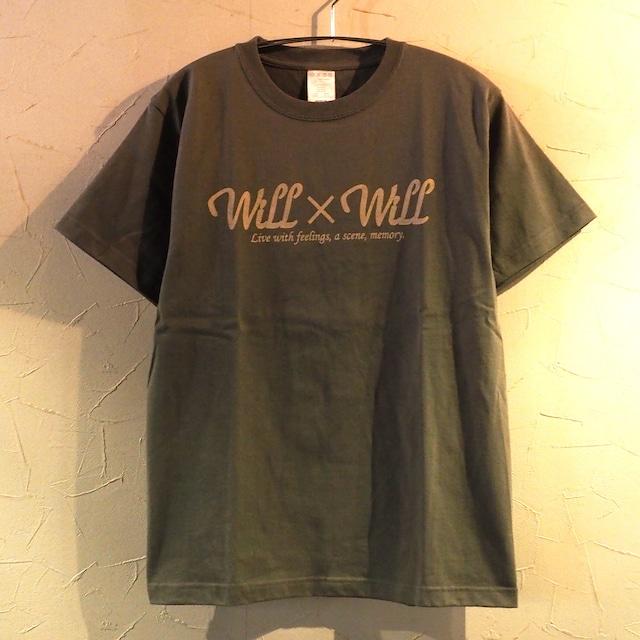【一点物】 WillxWill logo  T-shirts Olive  Mサイズ