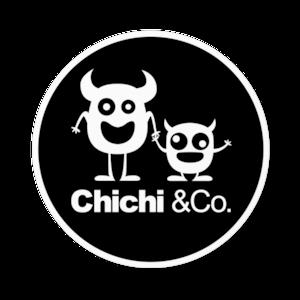 Chichi &Co. 丸ステッカー 100x100mmブラック