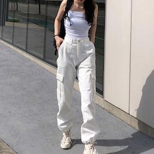 レディース カーゴパンツ ダンスパンツ ストレートパンツ 衣装 ヒップホップダンスウェア 原宿系 カジュアルパンツ ロングパンツ ストリート2780