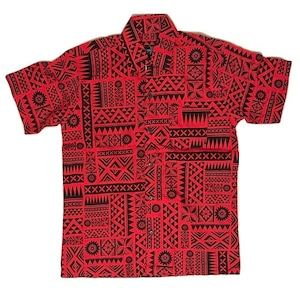 Aloha Shirt Red×Black【Kids】