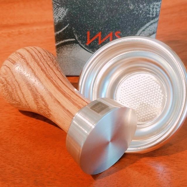 【タンパー&FBセット】●41mmチタンTFSE XS ゼブラウッド IMSシングルフィルターバスケット