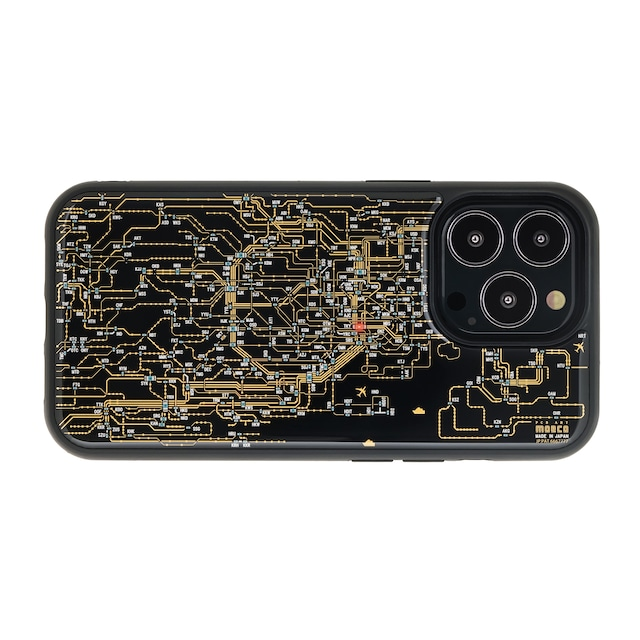 FLASH 東京回路線図 iPhone 13 Pro ケース 黒【東京回路線図A5クリアファイルをプレゼント】