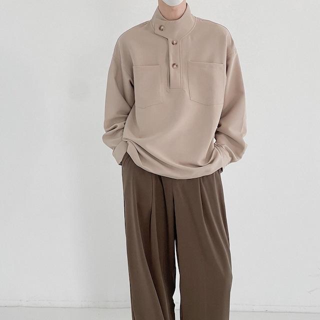 スタンドアップカラーシャツ YH4925