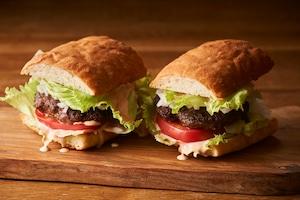 【BURGER】フォカッチャグルメバーガーミールキット(2人前)【100%牛肉パテ♪】