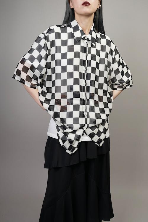 CHECKERED SHIRT (BLACK) 2106-22-39