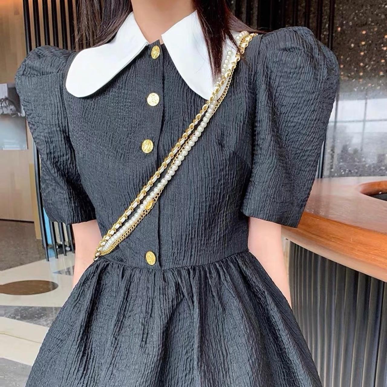 tucked sleeve shirring dress