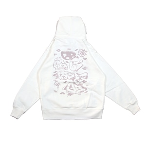 6th Wall by ATOMONE HEAVY HOODIE [OFF WHITE]