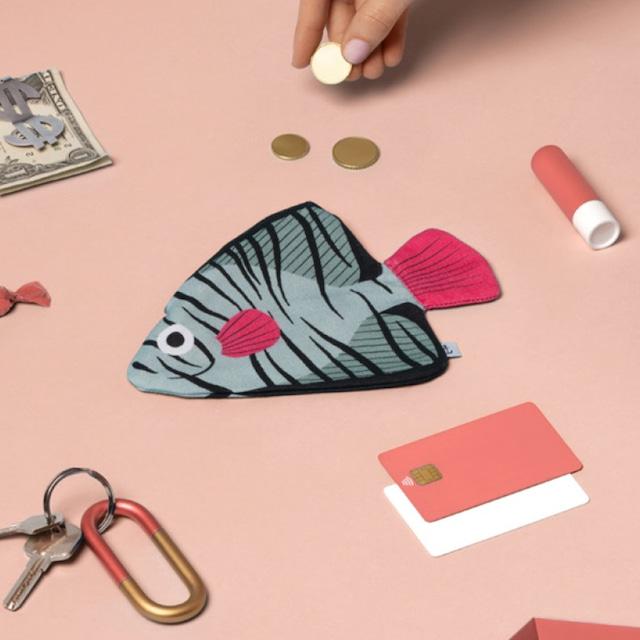 《魚/深海魚》おさかなポーチ DON FISHER ドンフィッシャー Aqua BATFISH バットフィッシュ スペイン 輸入雑貨 ピンク