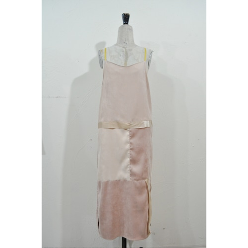 【RehersalL】suede camisole onepiece(pink) /【リハーズオール】スエードキャミワンピース(ピンク)