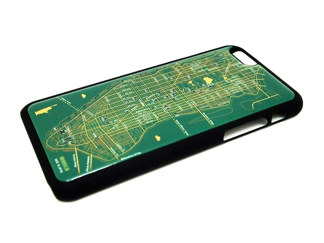 FLASH NY回路地図 iPhone6/6s  ケース  緑【東京回路線図A5クリアファイルをプレゼント】