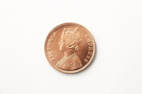 英領インド帝国 1ルピー(Copper) レプリカ