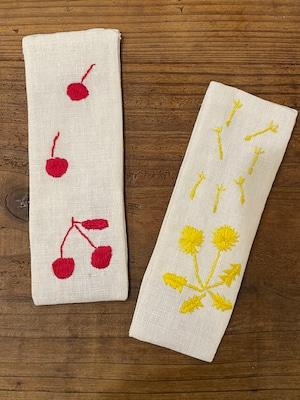 【GOODS】ポプリ刺繍しおり⭐︎さくらんぼちゃん、たんぽぽちゃん-LUCO