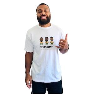 【YBC】TRIO DE BACK LINE T-Shirts White(Kids Size)