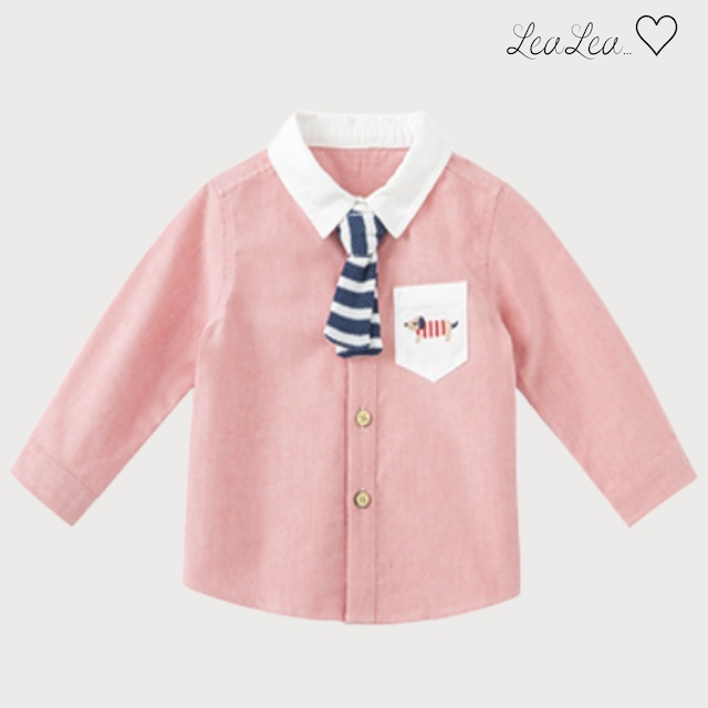 dave&bella2021AW新作♡ネクタイ付きシャツ(73cm-140cm)  LeaLea...♡(レアレア)-海外の子供服セレクトショップ