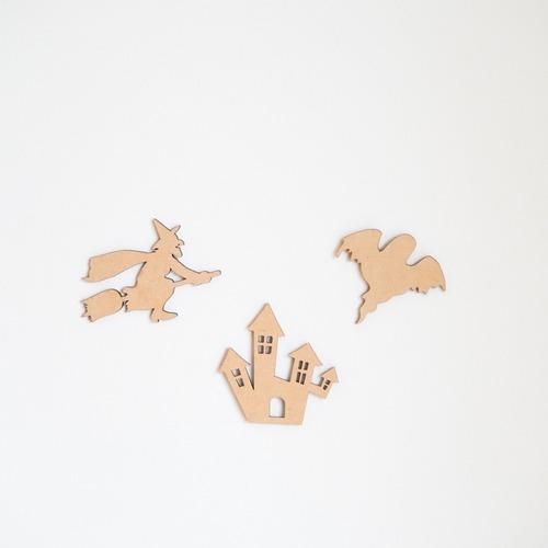 木製【送料込】ハロウィンイラストバナー❹ 魔女ハウス