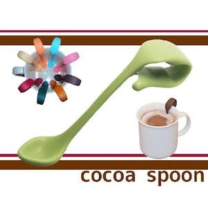 お友達へのプレゼントや誕生日ギフト/コーヒーカフェラテに便利な贈り物クリップ式ココアスプーン(ライムグリーン)