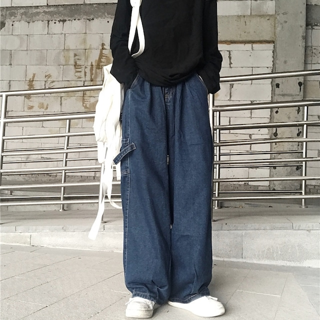 【ボトムス】韓国系無地ストリートカジュアルパンツ42908686