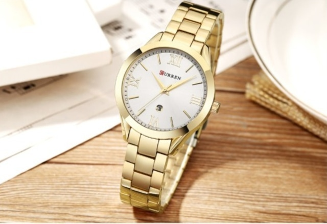 CURREN LT-C9007(gold-white) レディース腕時計