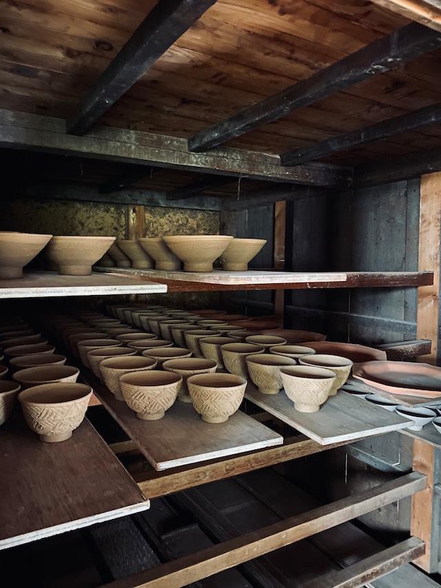 ◆受注生産◆焼〆舟型向付 三浦繁久作