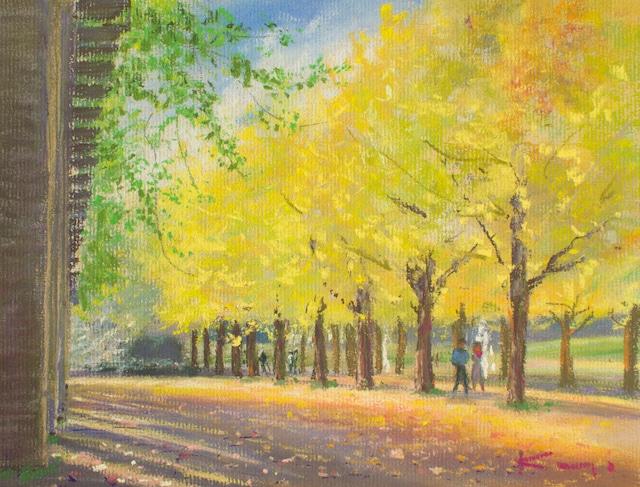 NO.116「銀杏並木の散歩・11月」