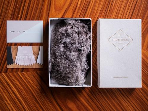 《10月16日正午〜予約販売》【fur_chinchilla_gray-mix】Shoes quilt(シューズファーキルト)