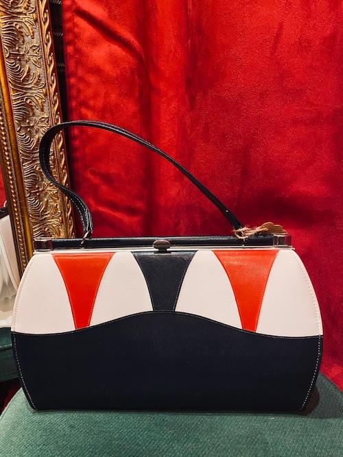 Vintage トリコロールカラー バッグ