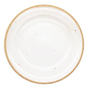 萬古焼 藍窯 モーニングプレート 皿 直径約21cm 「エスタ Esta」 赤土ホワイト AGM-200107